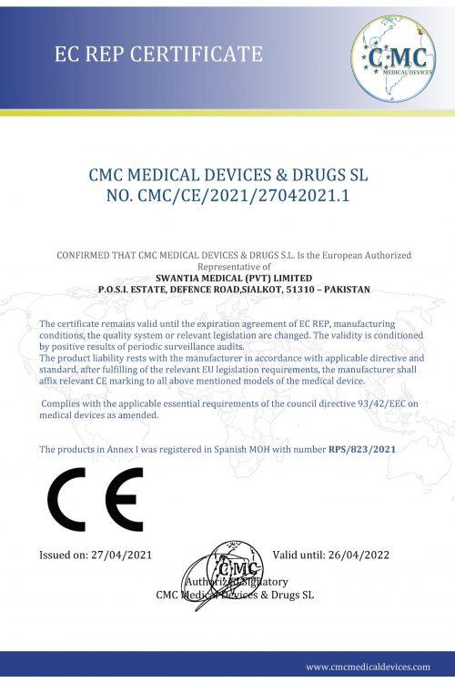 CE Cert Swantia (CMC)